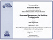 Business Management for Building Professional Certification